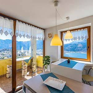 Bild zeigt eine Ferienunterkunft am Caldonazzosee